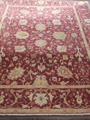 9'x12′ Crimson Antique Mahal